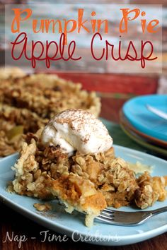 Is it an apple dessert recipe or a pumpkin dessert recipe? Well, Amazing Autumn Pumpkin Pie Apple Crisp is truly the best of both worlds! If you love either pumpkin pie or apple crisp, then you will want to make this dessert. Apple Dessert Recipes, Pumpkin Dessert, Apple Recipes, Pumpkin Recipes, Fall Recipes, Holiday Recipes, Holiday Foods, Summer Recipes, Pumpkin Crisp