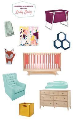 Nursery Inspiration for a baby girl // Little Hip Squeaks Blog