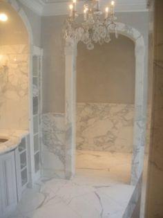 Statuary White Marble Bathroom