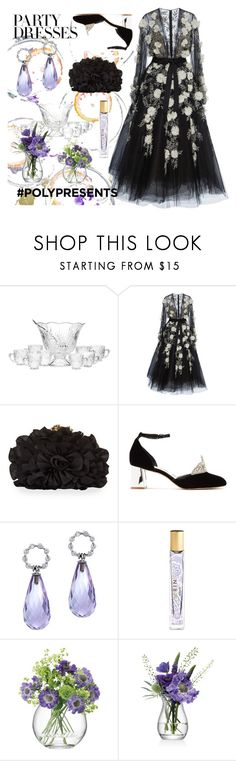 """""""belle of the ball"""" by aqualyra ❤ liked on Polyvore featuring Godinger, Marchesa, Franchi, Sophia Webster, AERIN, LSA International, partydress, contestentry, polyPresents and aqualyra"""