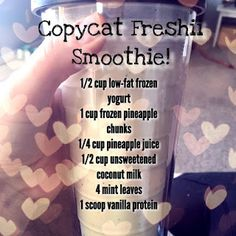 Copycat Freshii Powerhouse Smoothie  Green Smoothie // Healthy Smoothie Recipes // Shakeology Recipes // Perfect Fit Protein Recipes