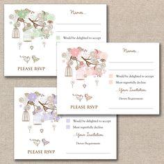 Vintage Floral Birdcages Wedding RSVP Cards & Envelopes For Your Invitations Bird Cage, Vintage Floral, Free Delivery, Rsvp, Wedding Invitations, Place Card Holders, Envelopes, Cards, Ebay