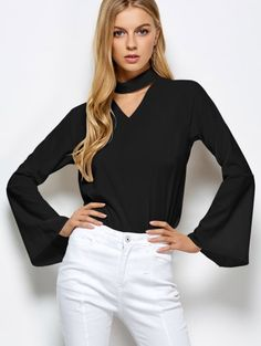 SHARE & Get it FREE | Loose Choker Flare Sleeve BlouseFor Fashion Lovers only:80,000+ Items • New Arrivals Daily Join Zaful: Get YOUR $50 NOW!