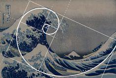 Hokusai Meets Fibonacci Art Print