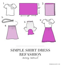 Merrick's Art // Style + Sewing for the Everyday Girl: TURN A BASIC TEE INTO A PRETTY SUMMER DRESS (SEWING TUTORIAL)