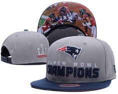 New England Patriots 2017 Super Bowl LI Champions Adjustable Hat Gray YD.  Lillianjerseys · NFL Patriots Snapback ... 42bd57475