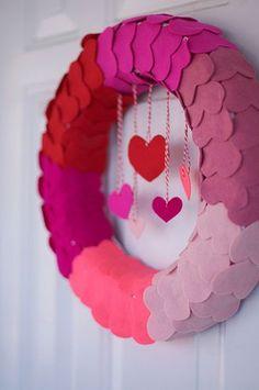 Felt Heart #Valentine's Wreath