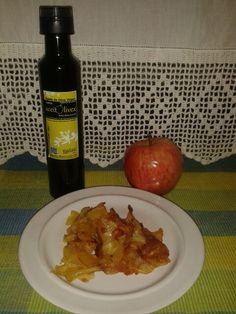 Chips de manzanas fritas en #aceite de oliva de aceitolivex. Producto natural de Extremadura