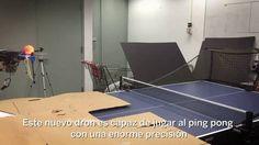 El dron que juega al ping pong llegará muy lejos