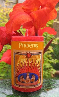 This Phoenix Aromatherapy Candle is made with Pine, Eucalyptus, Cinnamon and Peppermint Essential Oils is available at Mind Body Soul Essentials