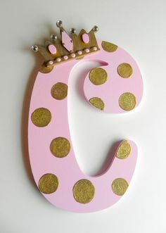 Princess Letter to Match Room Décor by SassyPeasDesigns on Etsy