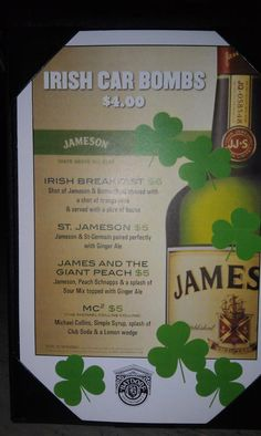Irish Car Bomb recipes... featuring Jameson
