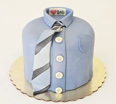 Father's Day Cake or Daddy's Bday. Tie with button down shirt