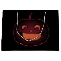 Snaggletooth Pumpkin Gift Bag - paper gifts presents gift idea customize Halloween Make Up, Halloween Party, Halloween Costumes, Large Gift Bags, Present Gift, Paper Gifts, Festival Party, Hallows Eve, Craft Supplies