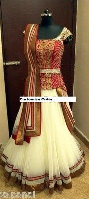 . Women traditional clothing navratri special lehnga choli saree blouse dress top $99
