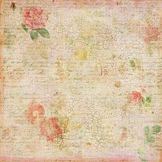 Distressed Floral Background ~ Jodie Lee Designs