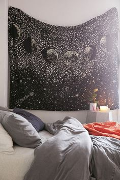 Slide View: 1: Stardust Glow-In-The-Dark Tapestry