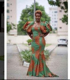 40 Latest Ankara Gown Styles You Can't Miss African Print Dresses, African Dresses For Women, African Attire, African Wear, African Fashion Dresses, African Women, Ghanaian Fashion, African Prints, African Style