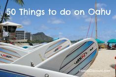 50 Things to Do on Oahu -great list for those planning a Hawaii Vacation or Hawaii Honeymoon. Some of the best Hawaii Activities, Hawaii Tours & restaurants Hawaii Honeymoon, Aloha Hawaii, Hawaii Life, Honolulu Hawaii, Hawaii Travel, Hawaii 2017, Blue Hawaii, Usa Travel, Oahu Vacation