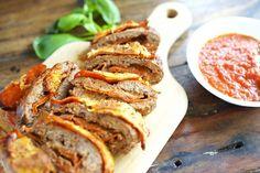 Pizza Stuffed Meatloaf-  Step-by-Step Tutorial:http://simplysohealthy.com/pizza-stuffed-meatloaf-step-step-tutorial/