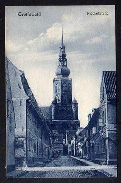 93292 AK Greifswald Nicolaikirche 1908 Stockholm | eBay