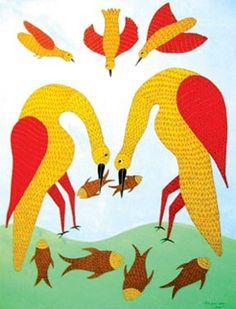 Gond art, of India Mural Painting, Painting & Drawing, Fish Paintings, Eggshell Mosaic, Tribal Community, Indian Folk Art, Madhubani Painting, Aboriginal Art, Tribal Art