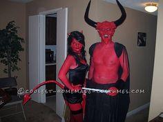 Homemade Devil Couple Costume Based on Legend... Homemade Costume Contest