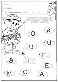 desenho vogais Kindergarten Coloring Pages, Abc Phonics, Preschool Art Projects, Alphabet, Writing, Reading, Chico Bento, Language Activities, Sight Word Activities