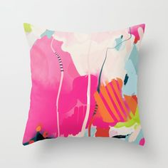 Pink Sky Ii Couch Throw Pillow by Lalunetricotee - Cover x with pillow insert - Indoor Pillow Pink Pillows, Fluffy Pillows, Throw Cushions, Couch Pillows, Outdoor Throw Pillows, Designer Throw Pillows, Down Pillows, Accent Pillows, Flower Pillow