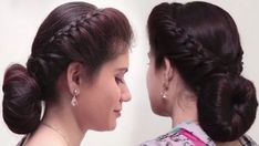bun hairstyle with saree for short hair Indian Bun Hairstyles, Saree Hairstyles, Bun Hairstyles For Long Hair, Fast Hairstyles, Woman Hairstyles, Simple Hairstyles, Simple Hairstyle For Saree, Medium Hair Styles, Short Hair Styles