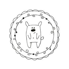 Hand Embroidery Bear Digital Downloadable por teenytinyhappythings, $3.00