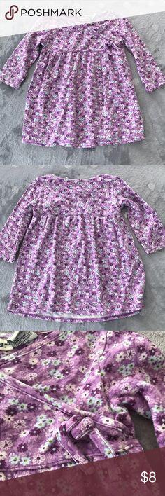 💜 5/$25 CHEROKEE girl's purple long sleeved dress 100% cotton toddler girl's purple flowered long sleeved dress. Guc. Cherokee Dresses