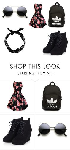 """""""Love"""" by aaudreyowen on Polyvore featuring adidas Originals, women's clothing, women's fashion, women, female, woman, misses and juniors"""