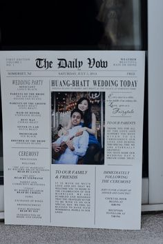 The Daily Vow newspaper wedding announcement; Family and Tradition: A Multicultural Wedding at The Palace at Somerset Park