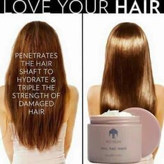 This deep conditioning treatment provides critical hydration by penetrating the hair shaft and tripling the strength of damaged hair. It prevents split ends and breakage, making hair smooth, shiny, and manageable for up to seven days. Nu Skin, Love Your Hair, How To Make Hair, Fly Away Hair, Deep Conditioning, Split Ends, Smooth Hair, Shiny Hair, Hair Loss