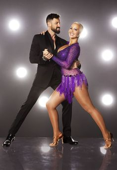 Maks is back! And he's paired with model/talk-show host/professional Kardashian gadfly Amber Rose.<br /><br />(Photo: Craig Sjodin/ABC)