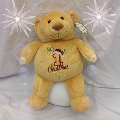 Personalised baby gift polarbear personalised baby gifts my 1st christmas bear personalised baby gifts presents teddies blankets negle Image collections