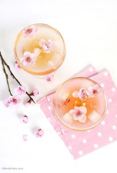 Spring Blossom Cocktail | PARTY BLOG by BirdsParty|Printables|Parties|DIYCrafts|Recipes|Ideas