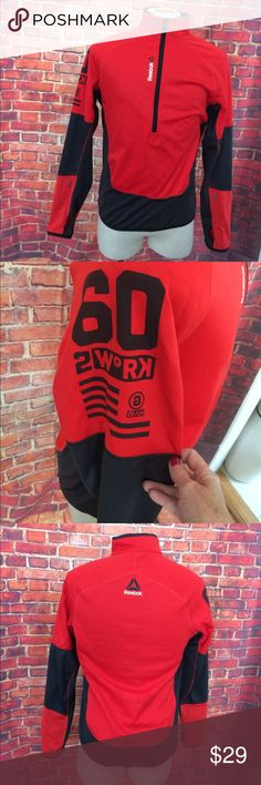 Reebok half zip pullover a Red black jacket M Reebok half zip pullover a Red black jacket M Reebok Jackets & Coats