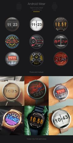 Android Wear faces on Behance