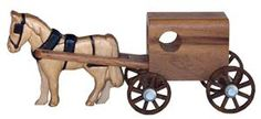 Walnut Wood Amish Horse and Buggy Toy from Dutch Crafters Amish Handcrafted Goods