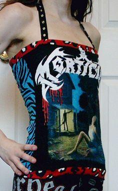 MORTICIAN Halter Top Shirt Death Metal DIY by bloodshredrecords, $20.00