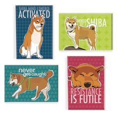 If you own a Shiba you understand. haha! Fab.com | Shiba Inu Magnet 4 Pack
