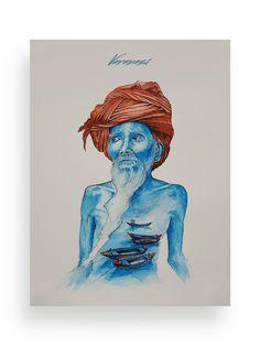 Illustration, Watercolour, Varanasi, Painting,