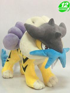 Pokemon Go Raikou Plush Doll 12'' Toy Game Stuffed Kids Gift PNPL5312 New! #OLY