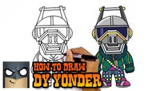 Drawing For Beginners How to Draw DJ Yonder Online Drawing, Drawing Websites, Drawing Lessons, Drawing Classes, Drawing Tips, Drawing Ideas, Easy Cartoon Drawings, Disney Drawings, Easy Drawings