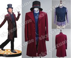 Willy Wonka Charlie and the Chocolate Factory Johnny Depp Jacket Whole Costume