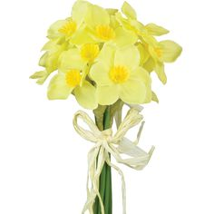 Artificial Daffodil | Pavilion Broadway ($6.39) ❤ liked on Polyvore featuring home, home decor and flowers