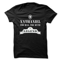(New Tshirt Great) NATHANIEL the man the myth the legend [Hot Discount Today]…