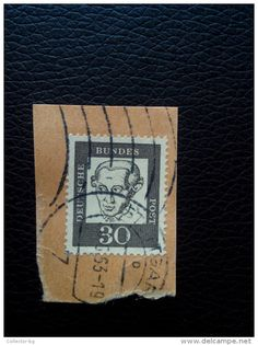 RARE 30 DDR MARKE DDR GERMANY 1963  RECOMMENDET PACKAGE-LETTRE STAMP ON PAPER COVER USED SEAL - [6] Democratic Republic